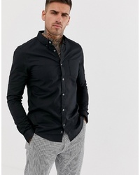 Burton Menswear Oxford Shirt In Black