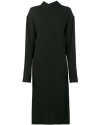 Marni Backwards Collar Long Sleeve Dress
