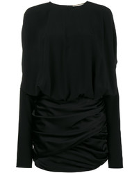 Saint Laurent Draped Shoulder Mini Dress