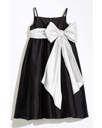 Us Angels Girls Sleeveless Empire Waist Taffeta Dress