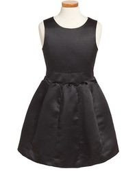 Milly Minis Toddler Girls Duchesse Satin Fit Flare Dress Size 4t Black