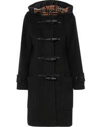 Burberry Hooded Wool Blend Duffle Coat