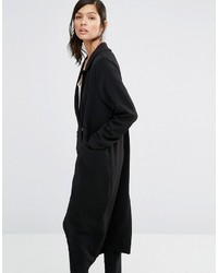 Neon Rose Relaxed Tuxedo Duster Coat