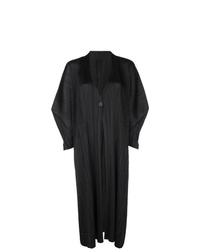 Pleats Please By Issey Miyake Oversized Pleated Coat