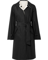 TRE by Natalie Ratabesi The Barbara Reversible Cotton Blend Canvas And Silk Crepe Trench Coat