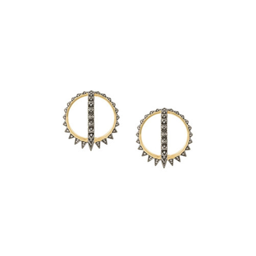 NOOR FARES 18kt Gold Merkaba Creoles Earrings