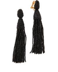 Oscar de la Renta Classic Long Tassel Earrings