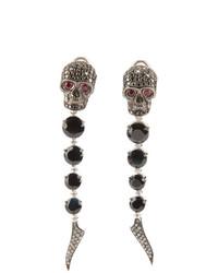 Gavello Sapphire Diamond And Ruby Skull Head Earrings
