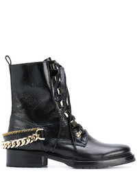 Lanvin Chain Embellished Combat Boots
