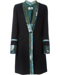 Etro Embellished Contrast Edge Coat
