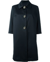 Ermanno Scervino Embellished Leaf Appliqu Coat