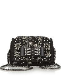 Black Embellished Crossbody Bag