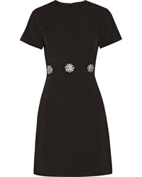 MICHAEL Michael Kors Michl Michl Kors Crystal Embellished Stretch Crepe Mini Dress Black