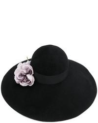 Gucci Floral Embellished Wide Brim Hat