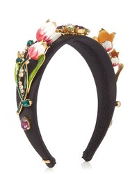 Dolce & Gabbana Citta Floral Embellished Headband