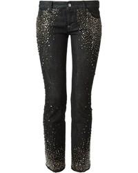 Black Embellished Jeans