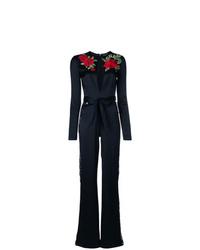 Philipp Plein Rose Embroidered Jumpsuit