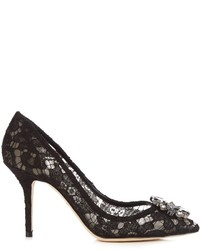 Dolce & Gabbana Belluci Crystal Embellished Lace Pumps