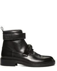 Christopher Kane Crystal Embellished Leather Ankle Boots