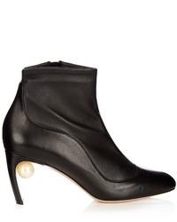 Nicholas Kirkwood Mva Pearl Embellished Leather Ankle Boots