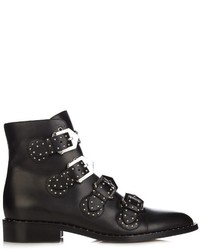 Givenchy Stud Embellished Leather Ankle Boots