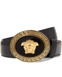 Versace 35cm Black Leather Belt