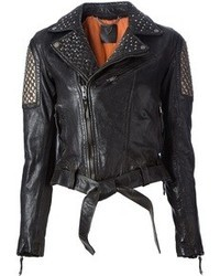 Hollywood Trading Company Htc Studded Biker Jacket