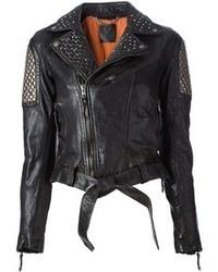 Hollywood Trading Company Htc Studded Biker Jacket