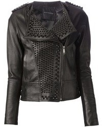 Nour Hammour Studded Lambskin Jacket