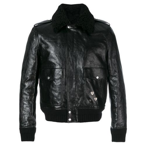 1d955f4df £3,627, Saint Laurent Pin Embellished Bomber Jacket