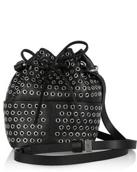 Tamara Mellon Elixir Eyelet Embellished Leather Bucket Bag