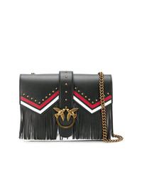 Pinko Fringe Embellished Shoulder Bag