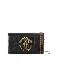 Roberto Cavalli Medium Stud Embellished Shoulder Bag