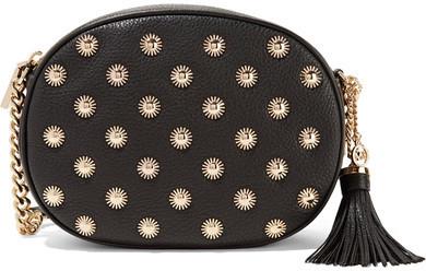 b43455ed824 ... Crossbody Bags MICHAEL Michael Kors Michl Michl Kors Ginny Embellished  Textured Leather Shoulder Bag Black ...