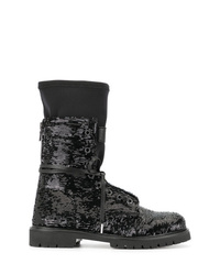 RtA Sequins Lace Up Boots