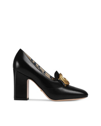 Gucci Leather Pump With Double G