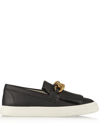 Giuseppe Zanotti Embellished Leather Slip On Sneakers
