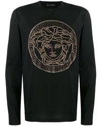 Versace Studded Medusa Long Sleeve T Shirt