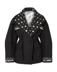 Isabel Marant Emmetis Reversible Embellished Cotton Canvas Jacket