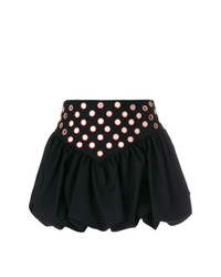 Saint Laurent Embroidered Ruffle Basque Mini Skirt