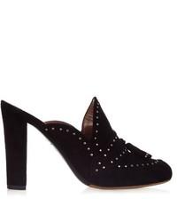 Tabitha Simmons Diana Stud Embellished Slip On Mules