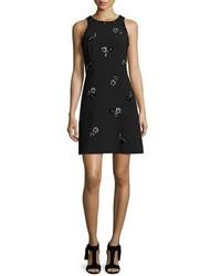 Kate Spade New York Sleeveless Embellished Ponte Dress Black