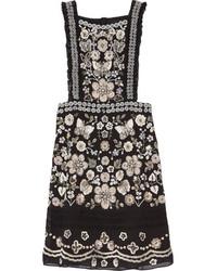 Needle & Thread Embellished Georgette Mini Dress Black