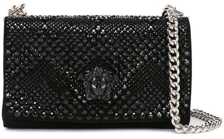 d65857f0d75a Versace Embellished Medusa Shoulder Bag