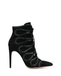 Alexandre Birman Embellished Lace Up Boots