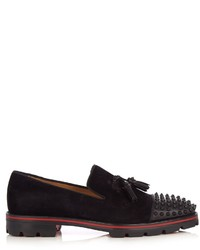 Christian Louboutin Rossini Spike Embellished Suede Loafers