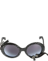 A morir embellished oversized sunglasses medium 384094