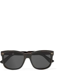 Crystal embellished square frame acetate sunglasses black medium 954375