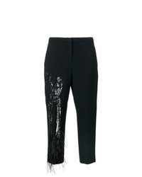 Black Embellished Tapered Pants