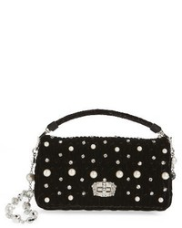 Miu Miu Velluto Crystal Embellished Crossbody Clutch
